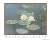 Claude Monet Nympheas Art Print POSTER Water Lilypads Posters