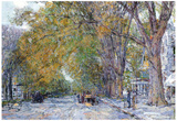 Childe Hassam Main Street East Hampton Art Print Poster Prints