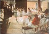 Edgar Degas Ballet Rehearsal Art Print Poster Posters