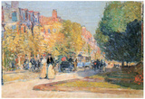 Childe Hassam Malborough Street Boston Art Print Poster Print