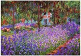 Claude Monet (Garden at Giverny) Art Print Poster Print
