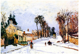 Camille Pissarro The Versailles Road Art Print Poster Obrazy