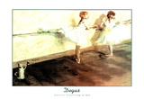 Dancers Practicing at Bar Art Print Poster Edgar Degas Print