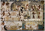 Egyptian painter around 1500 BC (Chamber grave of an unknown, scenes of the wall design) Art Poster Posters