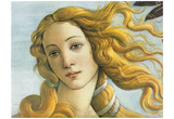 Botticelli (The Birth of Venus, Detail) Art Poster Print Photo