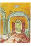 Vincent Van Gogh (Entrance Hall of Saint-Paul Hospital) Art Poster Print Prints