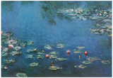 Claude Monet (Water Lilies in Pond) Art Poster Print Print