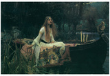 John William Waterhouse (Lady of Shalott) Art Poster Print Print