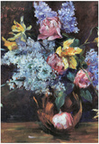 Lovis Corinth Roses Lilacs and Daffodils Art Print Poster Posters
