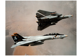 F-14 Tomcats (In Air) Art Poster Print Photo