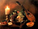Mandolin & Fruit (Still Life) Photo Print Poster Pósters