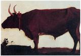 Albert Bierstadt Ox Portrait Art Print Poster Poster