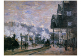 Claude Monet (Saint-Lazare Station, the Western Docks) Art Poster Print Poster