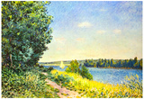 Alfred Sisley River Bank 2 Art Print Poster Prints