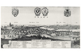 Wenceslas Hollar (Prague, the 'big' look at Prague) Art Poster Print Print