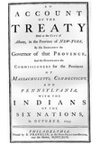 Treaty (Governor of the Provinces and Indians of the Six Nations, 1746) Poster Print Photo