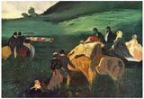 Edgar Degas Riders in the Landscape Art Print Poster Posters