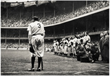 Babe Ruth Retirement New York Yankees Archival Photo Sports Poster Plakater