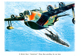 British Short Sunderland Flying Boat WWII War Propaganda Art Print Poster Prints