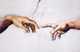 Michelangelo (Creation of Adam, Inset) Art Poster Print Masterprint
