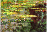 Claude Monet Water-Lily Pond Art Print Poster Prints