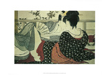 Kitagawa Utamaro (The Lovers) Art Poster Print Posters