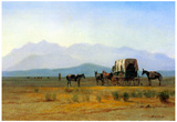Albert Bierstadt The Stagecoach in the Rockies Art Print Poster Prints