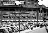 Comiskey Park Chicago Front Gates Archival Photo Sports Poster Masterprint