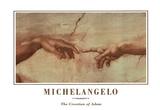 Michealengelo (Creation of Adam) Art Print Poster Foto