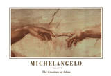 Michealengelo (Creation of Adam) Art Print Poster Posters