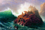 Albert Bierstadt Seal Rock California Art Print Poster Masterprint