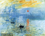 Claude Monet Impression Sunrise 1872 Art Poster Print Masterprint