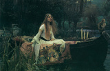 John William Waterhouse (Lady of Shalott) Art Poster Print Masterprint