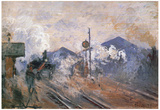 Claude Monet (Train Tracks at the Saint-Lazare Station) Art Poster Print Prints