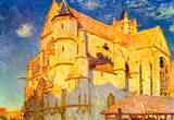 Alfred Sisley Church in Moret Art Print Poster Masterprint