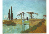 Vincent Van Gogh (The Langlois Bridge at Arles) Art Poster Print Prints