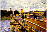 Alfred Sisley Bridge in Argenteuil Art Print Poster Photo