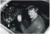 Amelia Earhart in Cockpit Archival Photo Poster Print Print
