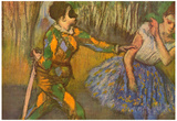Edgar Degas Harlequin and Columbine Art Print Poster Prints