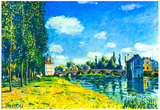 Alfred Sisley Bridge of Moret in Summer Art Print Poster Posters