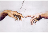 Michelangelo (Creation of Adam, Inset) Art Poster Print Posters
