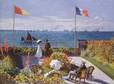 Claude Monet (Jardin a Sainte-Adresse) Art Poster Print Masterprint