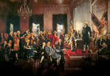 Howard Chandler Christy Scene at the Signing of the Constitution Art Poster Print Masterprint