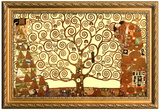 Gustav Klimt Tree of Life Poster with Gilded Faux Frame Border Póster