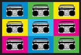Boombox Stereos 2 Pop Art Print Poster Masterprint