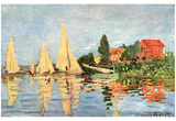 Claude Monet (Rigatta at Argenteuil) Art Poster Print Photo