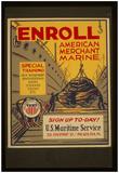 US Maritime Service (Enroll) Art Poster Print Prints