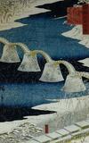 Utagawa Hiroshige (The Brocade Bridge in Snow) Art Poster Print Masterprint