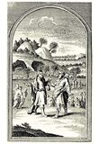 William Hogarth (Abraham bought a field from Ephron the Hittite) Art Poster Print Photo
