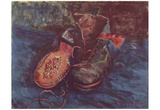 Vincent Van Gogh (Still Life, A pair of shoes) Art Poster Print Prints